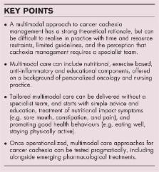 Practical multimodal care for cancer cachexia – ScienceOpen